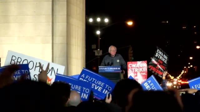 actress rosario dawson speaks before senator sanders at the bernie sanders campaign rally in washington square park underneath the arch in the heart... - senator stock videos & royalty-free footage