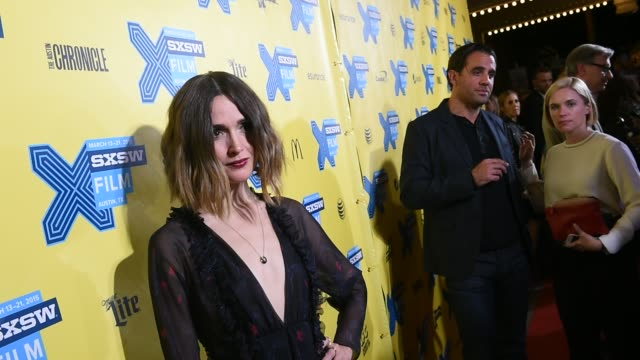 actress rose byrne arrives at the premiere of spy during the 2015 sxsw music film interactive festival at paramount theatre on march 15 2015 in... - rose byrne stock videos and b-roll footage