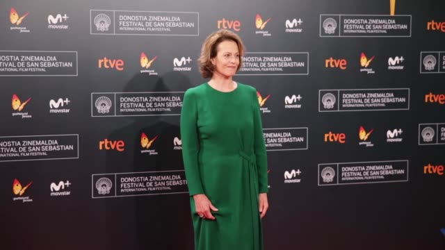 actress sigourney weaver attends 'a monster calls' premiere during the 64th san sebastian international film festival at the kursaal palace on... - sigourney weaver stock videos & royalty-free footage
