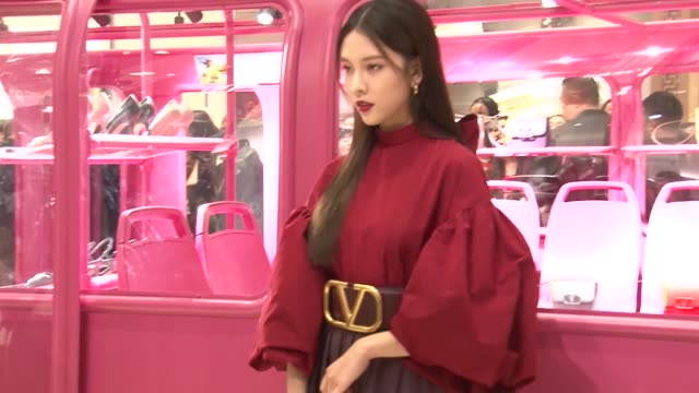 actress song yanfei attends valentino event on october 11, 2019 in shanghai, china. - valentino designer label stock videos & royalty-free footage