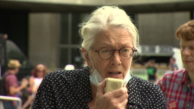 actress vanessa redgrave saying we are all in it together at a protest held by arts workers over job cuts due to the coronavirus crisis - concepts stock videos & royalty-free footage
