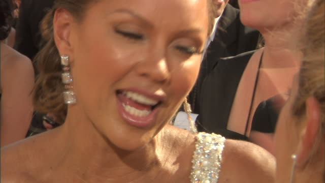 HD Actress Vanessa Williams on crowded red carpet outside Nokia Theatre talking to press
