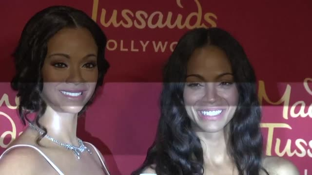 Actress Zoe Saldana attends the unveiling of her wax figure held at Madame Tussauds in Hollywood California