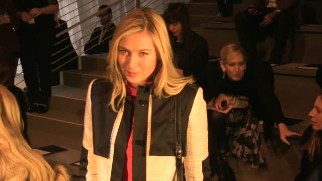 Actresses Leighton Meester and Renee Zellweger Anna Wintour Maria Sharapova Julius Tennon and Viola Davis attends the Vera Wang Fall 2012 fashion...