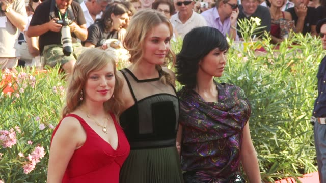 Actresses Sarah Polley Diane Kruger and Linh Dan Pham at the Mr Nobody Premiere Venice Film Festival 2009 at Venice
