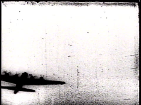 aerial actual combat footage of b17 flying fortresses being shot down / germany - 1944 stock videos and b-roll footage