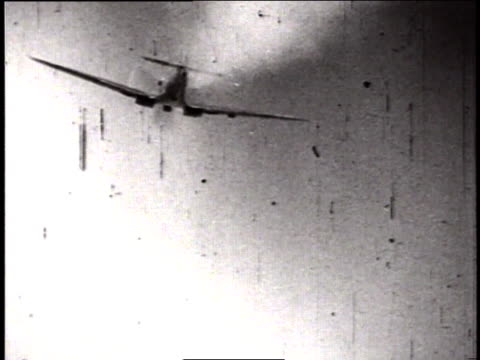 actual combat footage of wwii dogfighting / germany - bomber stock videos & royalty-free footage