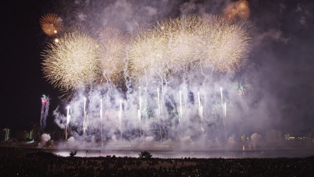 adachi fireworks festival in 2013 - 2013 stock videos & royalty-free footage