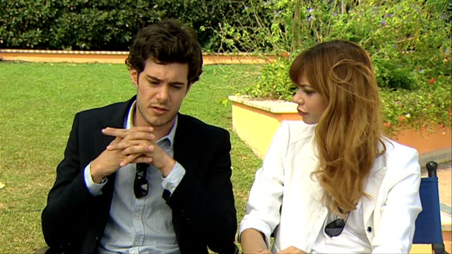 adam brody analeigh tipton on the themes contained in the film at the damsels in distress interviews venice film festival 2011 at venice - adam brody stock videos & royalty-free footage