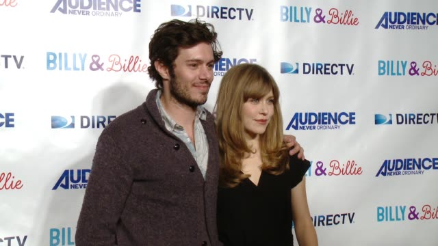 adam brody and lisa joyce at directv celebrates the premiere of 'billy and billie' on february 25 2015 in los angeles california - adam brody stock videos & royalty-free footage