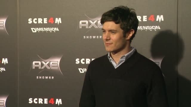 adam brody at the axe shower presents the world premiere of 'scream 4' at hollywood ca - adam brody stock videos & royalty-free footage