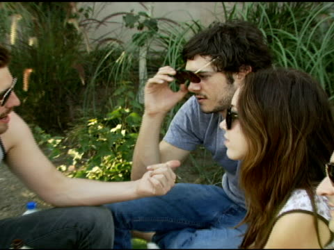 adam brody at the dkny jeans coachella retreat house on april 28 2007 - adam brody stock videos & royalty-free footage