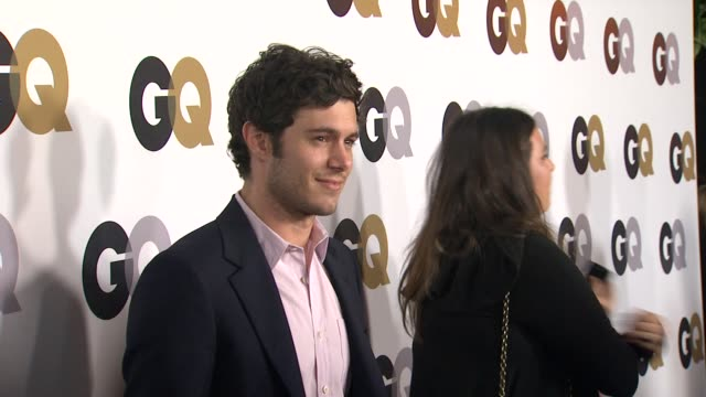 adam brody at the gq's 2011 'men of the year' party at los angeles ca - adam brody stock videos & royalty-free footage