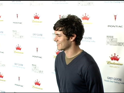 adam brody at the premiere the new power at the roosevelt hotel in hollywood california on june 15 2005 - adam brody stock videos & royalty-free footage
