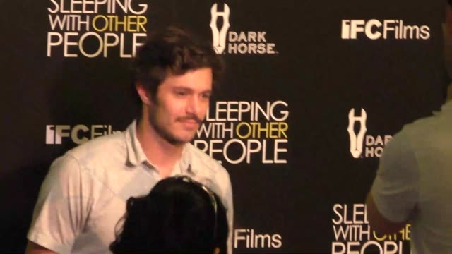 adam brody at the sleeping with other people premiere at arclight theatre in hollywood in celebrity sightings in los angeles - adam brody stock videos & royalty-free footage