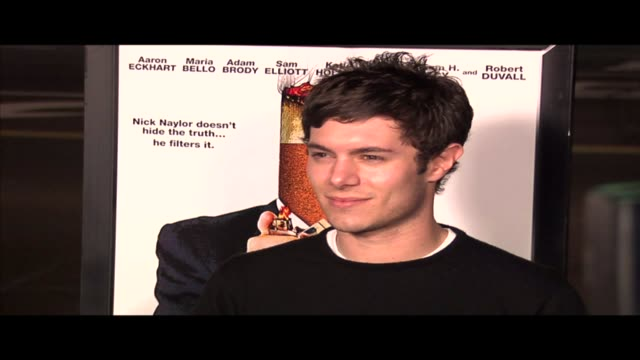 adam brody at the thank you for smoking los angeles premiere at the dga theatre in los angeles california on march 16 2006 - adam brody stock videos & royalty-free footage