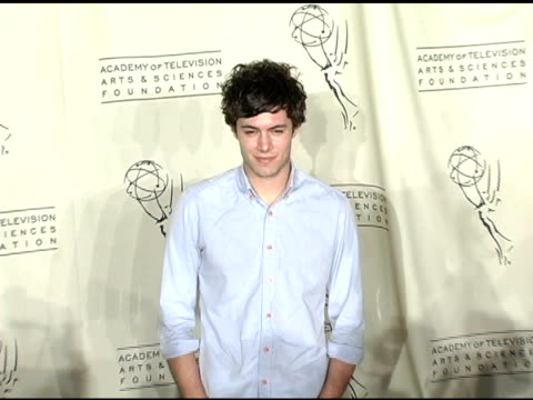 adam brody at the the academy of arts and sciences presentation of the oc revealed at warner brothers studios in burbank california on march 21 2005 - adam brody stock videos & royalty-free footage