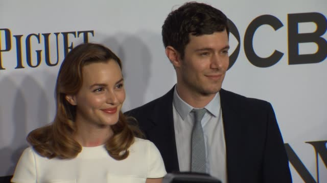 adam brody leighton meester at the 2014 tony awards at radio city music hall on june 08 2014 in new york city - adam brody stock videos & royalty-free footage