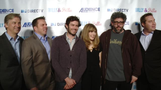 adam brody lisa joyce neil labute bart peters chris long and dan york at directv celebrates the premiere of 'billy and billie' on february 25 2015 in... - adam brody stock videos & royalty-free footage