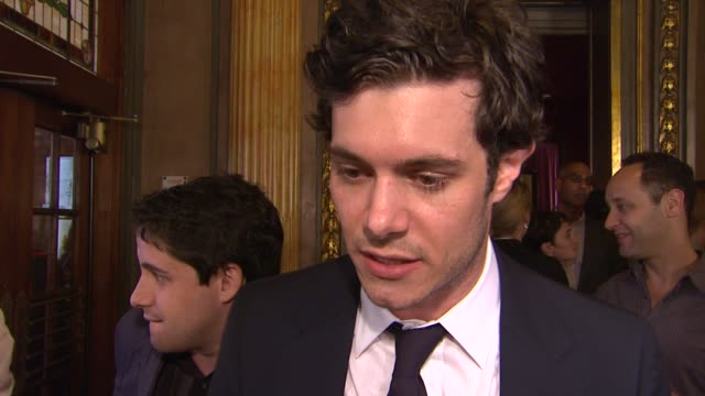 adam brody on being at tiff on the film on his character at the 'damsels in distress' premiere 2011 toronto international film festival at toronto on - adam brody stock videos & royalty-free footage