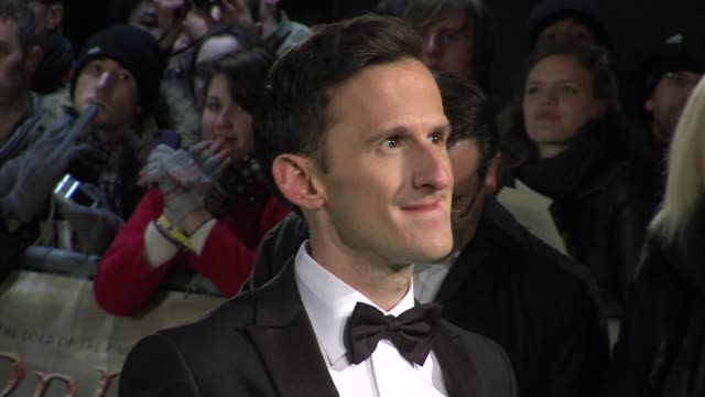 adam brown at 'the hobbit' uk premiere and royal film performance at odeon leicester square on december 12, 2012 in london, england. - the hobbit stock videos & royalty-free footage