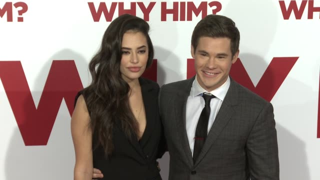 Adam DeVine and Chloe Bridges at the Why Him World Premiere at Regency Bruin Theater on December 17 2016 in Westwood California