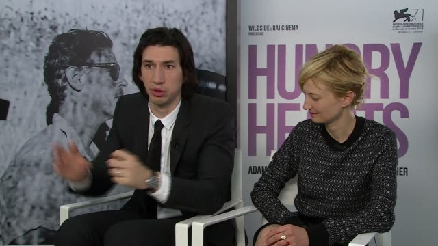 INTERVIEW Adam Driver Alba Rohrwacher on spending time in London at 'Hungry Hearts' Interview 71st Venice International Film Festival on August 31...