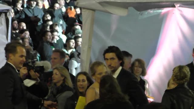 Adam Driver arrives to Star Wars The Force Awakens Premiere on Hollywood Blvd in Celebrity Sightings in Los Angeles