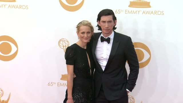 vídeos de stock, filmes e b-roll de adam driver at 65th annual primetime emmy awards - arrivals on 9/22/2013 in los angeles, ca. - gravata borboleta