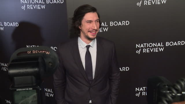 adam driver at national board of review gala at cipriani 42nd street on january 04 2017 in new york city - best supporting actor stock videos & royalty-free footage