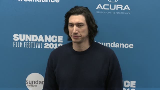 adam driver at 'the report' premiere - 2019 sundance film festival at eccles center theatre on january 26, 2019 in park city, utah. - sundance film festival stock videos & royalty-free footage
