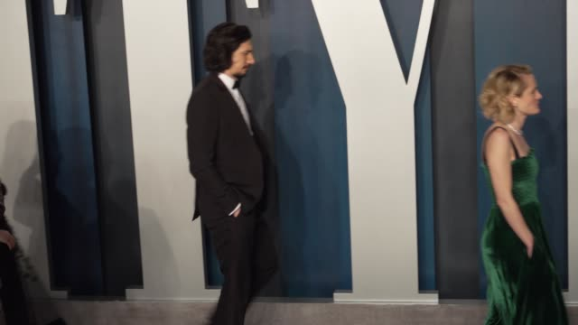 adam driver at vanity fair oscar party at wallis annenberg center for the performing arts on february 09 2020 in beverly hills california - vanity fair oscarparty stock-videos und b-roll-filmmaterial