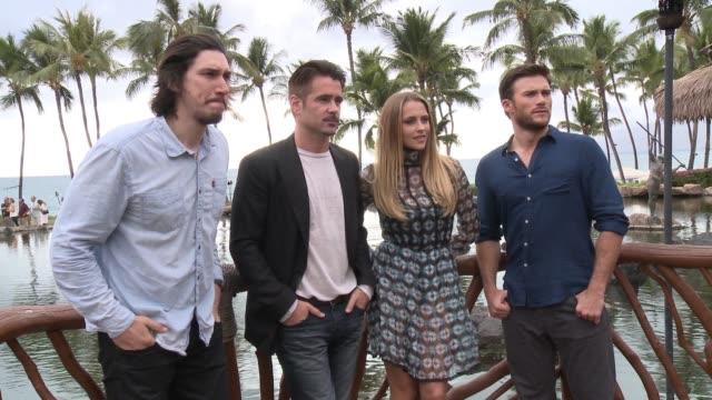 Adam Driver Colin Farrell Teresa Palmer and Scott Eastwood at the 2015 Maui Film Festival At Wailea Opening Night on June 03 2015 in Wailea Hawaii