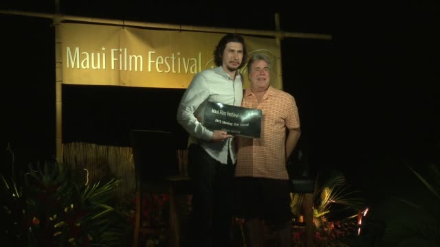 Adam Driver Honored with the Shining Star Award at the Celestial Cinema at the 2015 Maui Film Festival At Wailea Day 3 on June 05 2015 in Wailea...