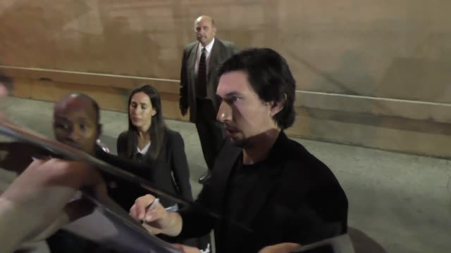 Adam Driver outside Jimmy Kimmel Live in Hollywood Celebrity Sightings on November 23 2015 in Los Angeles California