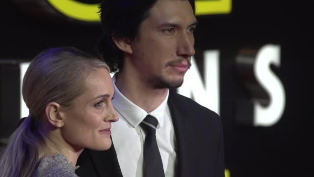 Adam Driver SLOMO at 'Star Wars Episode VII The Force Awakens' European Premiere on December 16 2015 in London England
