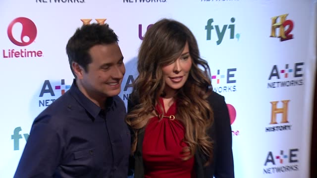 adam ferrara and alex tyler at 2014 ae networks upfront arrivals at park avenue armory on may 08 2014 in new york city - waffenlager stock-videos und b-roll-filmmaterial