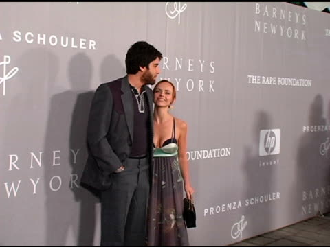 adam goldberg and christina ricci at the proenza schouler fashion show to benefit the rape foundation hosted by barneys new york and co-sponsored by... - christina ricci stock videos & royalty-free footage