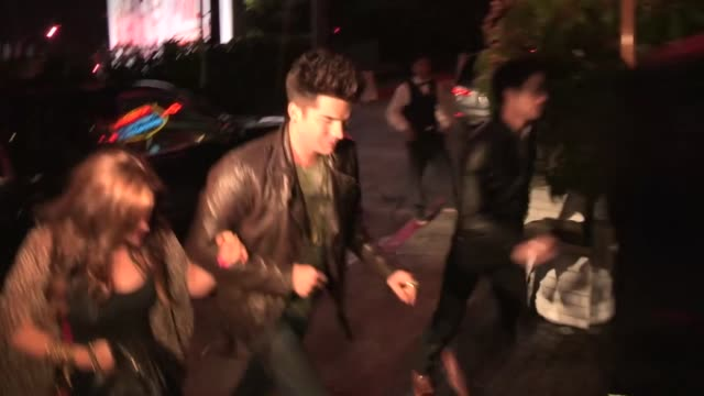 adam lambert arrives at chateau marmont in los angeles 05/09/13 - adam lambert stock videos and b-roll footage