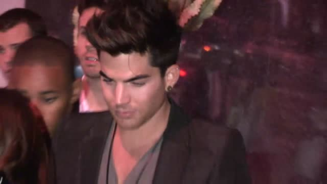 adam lambert at bootsy bellows in west hollywood at celebrity sightings in los angeles adam lambert at bootsy bellows in west hollywood on august 16... - adam lambert stock videos and b-roll footage
