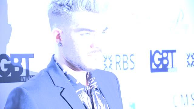 Adam Lambert at British LGBT Awards on May 13 2016 in London England