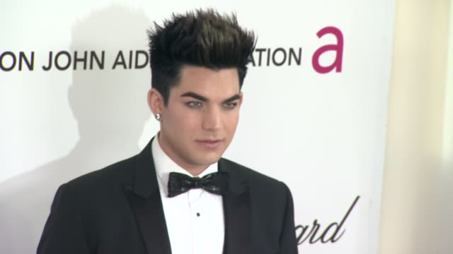 Adam Lambert at Elton John Aids Foundation Celebrates 20th Annual Academy Awards Viewing Party on 2/26/12 in Hollywood CA