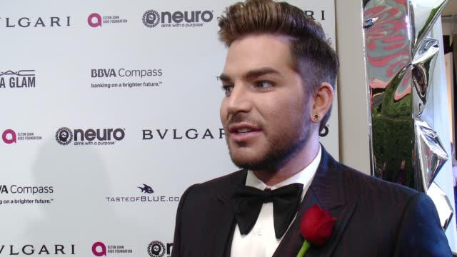 adam lambert at elton john aids foundation presents the 25th annual academy awards viewing party on february 26 2017 in west hollywood california - adam lambert stock videos and b-roll footage
