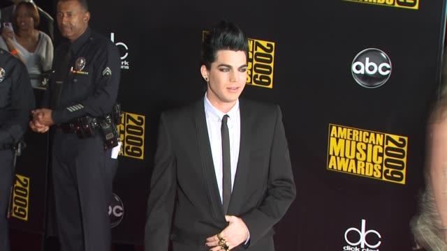 Adam Lambert at the 2009 American Music Awards Arrivals at Los Angeles CA