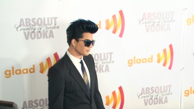 adam lambert at the 2010 glaad media awards at century city ca - adam lambert stock videos and b-roll footage
