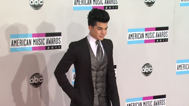 Adam Lambert at the 2011 American Music Awards Arrivals at Los Angeles CA