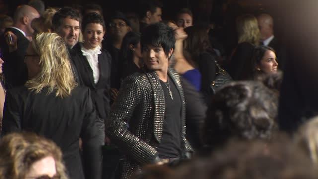 Adam Lambert at the '2012' Premiere at Los Angeles CA