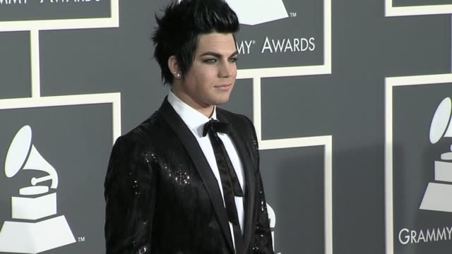 Adam Lambert at the 52nd Annual GRAMMY Awards Arrivals at Los Angeles CA