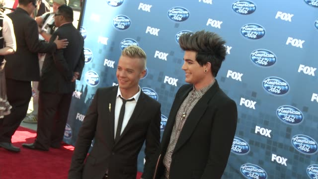 Adam Lambert at the Fox's 'American Idol 2011' Finale Results Show at Los Angeles CA