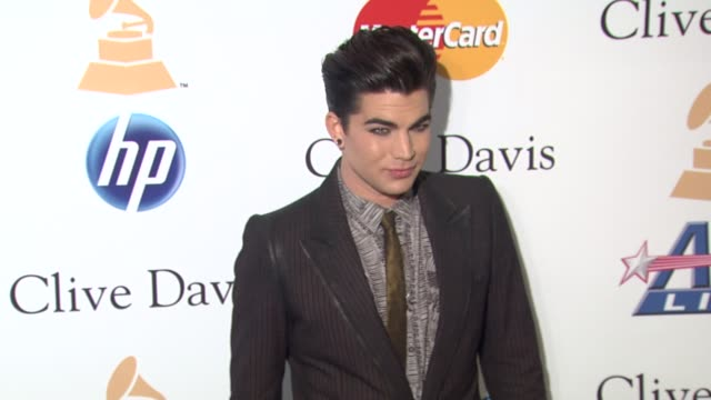 Adam Lambert at the PreGRAMMY Gala Salute To Industry Icons With Clive Davis Honoring David Geffen at Beverly Hills CA